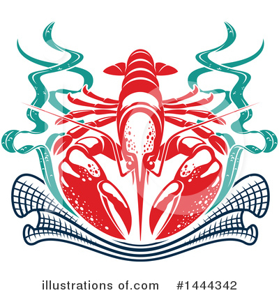 Lobster Clipart #1444342 by Vector Tradition SM