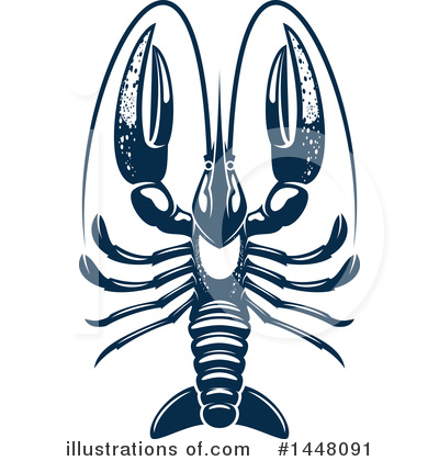 Lobster Clipart #1448091 by Vector Tradition SM