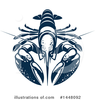 Lobster Clipart #1448092 by Vector Tradition SM