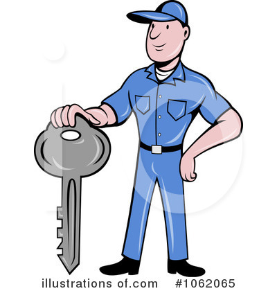 Locksmith Clipart #1062065 by patrimonio