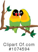 Lovebirds Clipart #1074594 by Pams Clipart