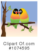 Lovebirds Clipart #1074595 by Pams Clipart