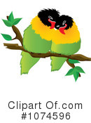 Lovebirds Clipart #1074596 by Pams Clipart