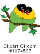 Lovebirds Clipart #1074597 by Pams Clipart