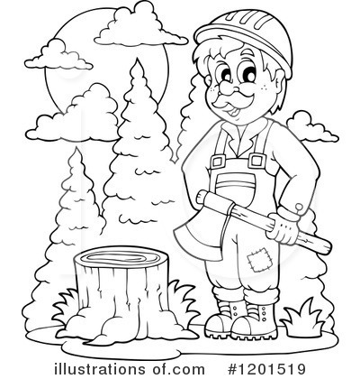 Lumberjack Clipart 1201519 Illustration By Visekart