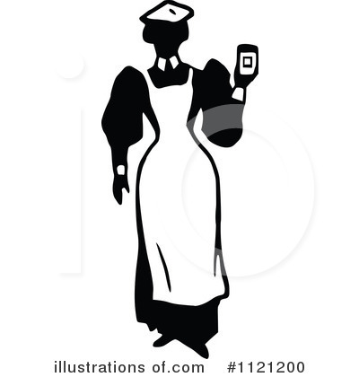 Maid Clipart #1121200 - Illustration by Prawny Vintage