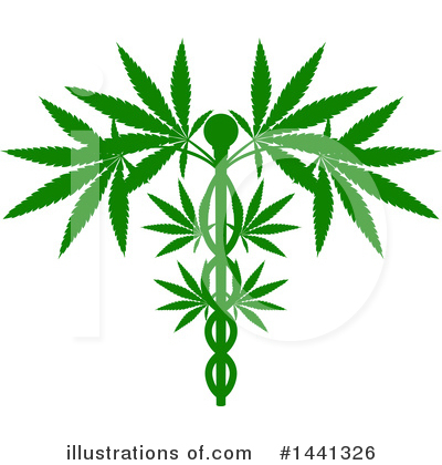 Marijuana Clipart #1441326 by AtStockIllustration