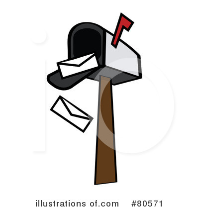 Mailbox Clipart #80571 - Illustration by Pams Clipart