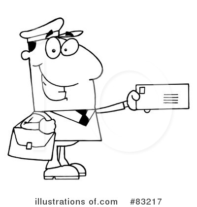 Mailman clipart 83217 illustration by hit toon for Mailman coloring pages