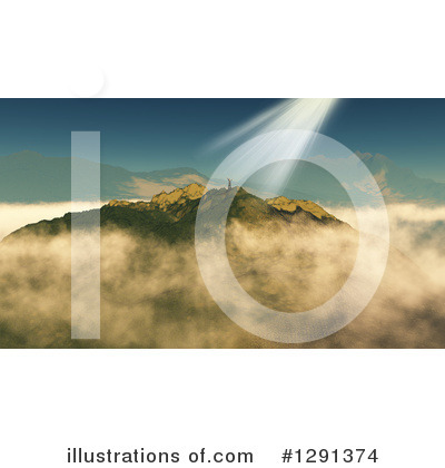 Mountains Clipart #1291374 by KJ Pargeter