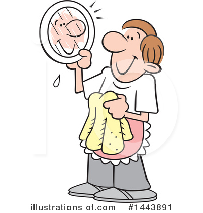 Washing Dishes Clipart #1443891 by Johnny Sajem