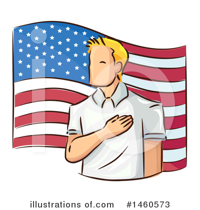 American Flag Clipart #1460573 by BNP Design Studio