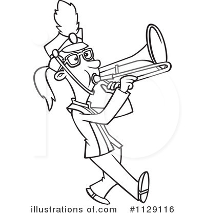 Marching Band Clipart #1129116 - Illustration by Ron Leishman