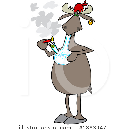 Marijuana Clipart #1363047 - Illustration by Dennis Cox