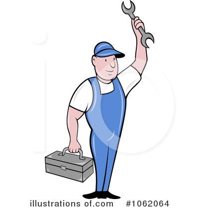 Mechanic Clipart #1062064 - Illustration by patrimonio
