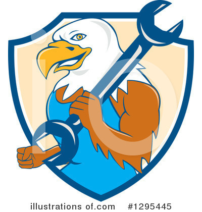 Bald Eagle Clipart #1295445 by patrimonio
