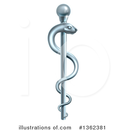 Caduceus Clipart #1362381 by AtStockIllustration