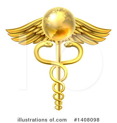 Caduceus Clipart #1408098 by AtStockIllustration