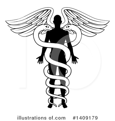Caduceus Clipart #1409179 by AtStockIllustration