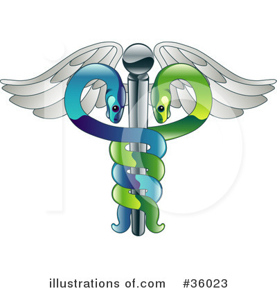Caduceus Clipart #36023 by AtStockIllustration