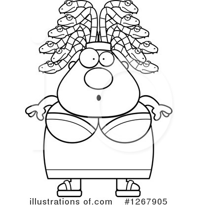 Medusa Clipart #1267905 - Illustration by Cory Thoman