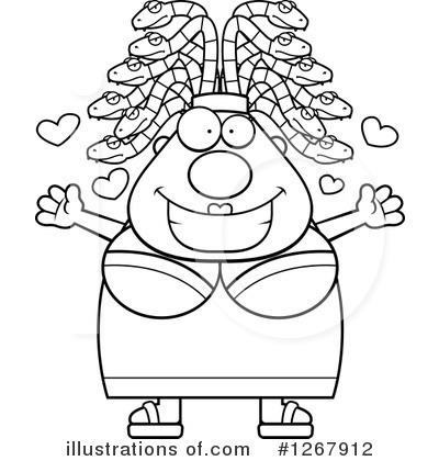 Medusa Clipart #1267912 - Illustration by Cory Thoman