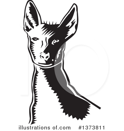 Mexican Hairless Dog Clipart #1373811 by David Rey