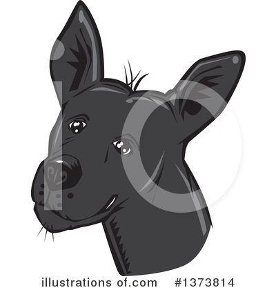 Mexican Hairless Dog Clipart #1373814 by David Rey