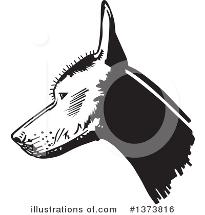 Mexican Hairless Dog Clipart #1373816 by David Rey