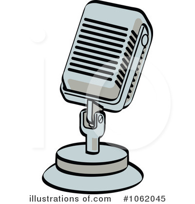 Microphone Clipart #1062045 - Illustration by Andy Nortnik