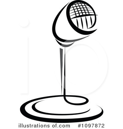 Microphone Clipart #1097872 - Illustration by Vector Tradition SM