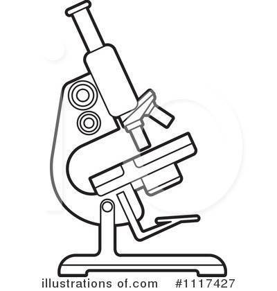 1117427 Royalty Free Microscope Clipart Illustration on bacteria virus