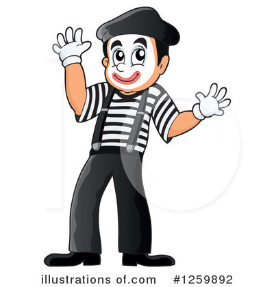 Mime Clipart #1259892 - Illustration by visekart