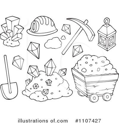 1107427 Royalty Free Mining Clipart Illustration on panning for gold cartoon