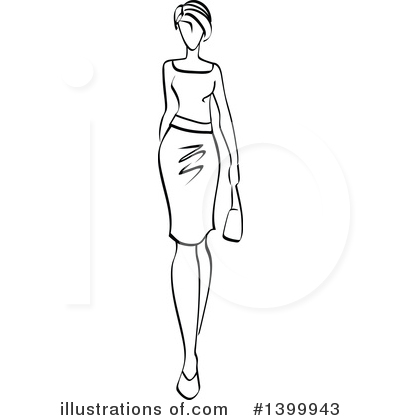 Model Clipart #1399943 by Vector Tradition SM