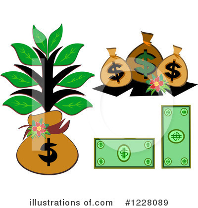 Money Tree Clipart #1228089 by bpearth
