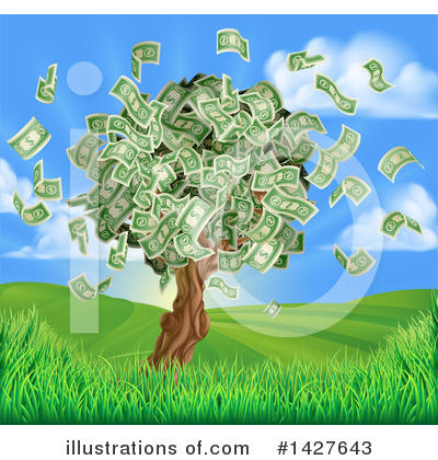 Money Tree Clipart #1427643 by AtStockIllustration