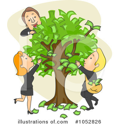 Money Tree Clipart #1052826 by BNP Design Studio