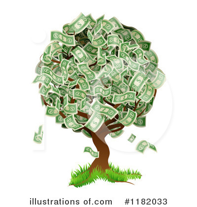 Royalty-Free (RF) Money Tree Clipart Illustration by AtStockIllustration - Stock Sample #1182033