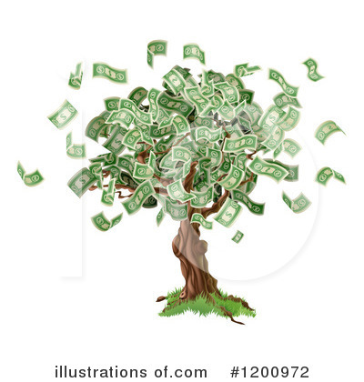 Money Tree Clipart #1200972 by AtStockIllustration