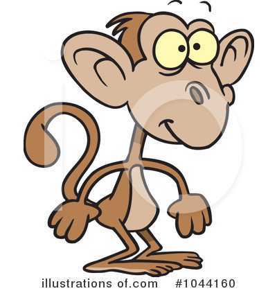 Monkey Clipart #1044160 by toonaday