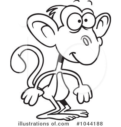 Monkey Clipart #1044188 by toonaday