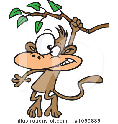 Monkey Clipart #1069836 by toonaday