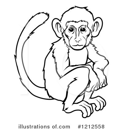 Monkey Clipart 1212558 Illustration By Atstockillustration