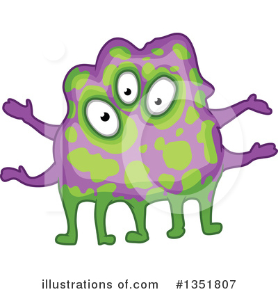 Monster Clipart #1351807 by Vector Tradition SM