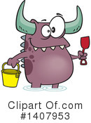 Monster Clipart #1407953 by toonaday