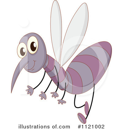 Mosquito Clipart #1121002 - Illustration by colematt