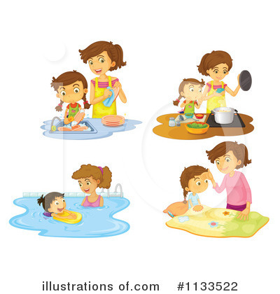 Washing Dishes Clipart #1133522 by Graphics RF
