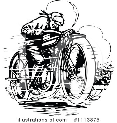 Motorcycle Clipart #1113875 by Prawny Vintage