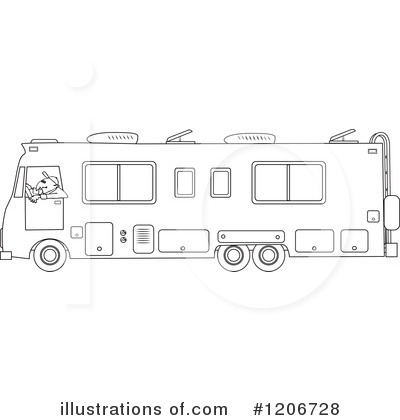 Royalty Free RF Motorhome Clipart Illustration 1206728 By Djart
